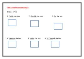 positional language worksheets year 1 by dejant teaching