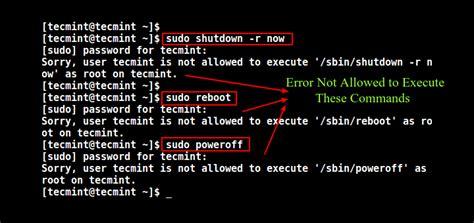 disable shutdown  reboot commands  linux