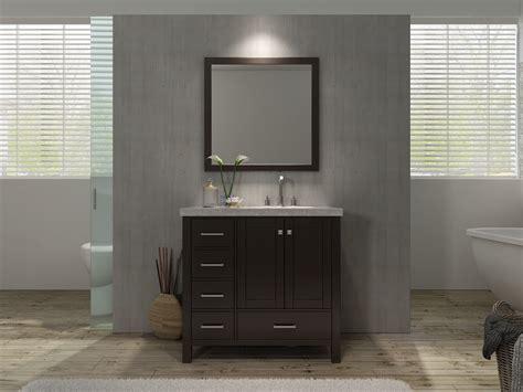 right offset sink vanity ace cambridge 37 inch single sink bathroom vanity set