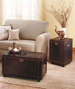 new rolling classic steamer trunk chest coffee table or With trunk coffee table and end tables