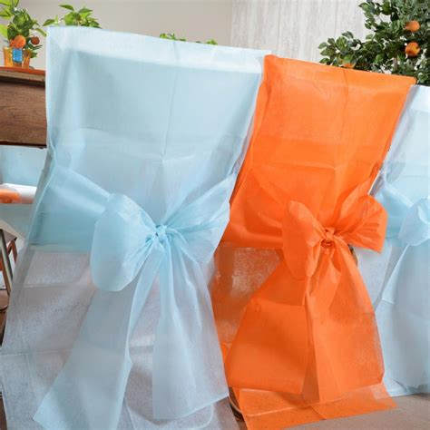 housse de chaise mariage pas cher achat vente housse de chaise orange déco de mariage pas