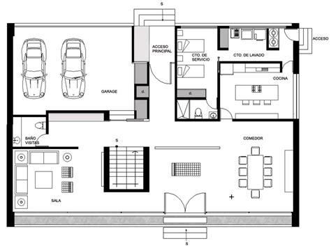 ground floor plan gp house in hidalgo mexico by bitar arquitectos