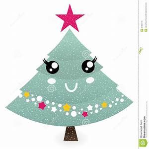 Cute Christmas Tree Character Stock Photo - Image: 27802170