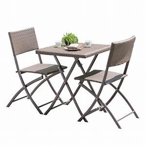 Table Et Chaises Faciles Plier Et Ranger Pour Balcon Et