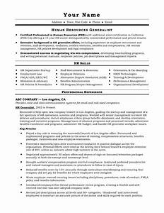 Resume Examples Human Resources Generalist Resume