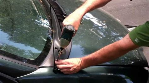 clean  clogged windshield drain car cleaning