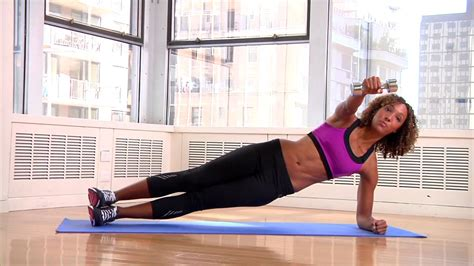 Side Plank with Rear Fly - Power Pairs Dumbbell Workout ...