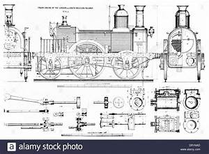 Train Engine Of The London And South Western Railway No 8a