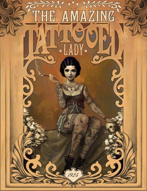 The Amazing Tattooed Lady By Rudeone On Deviantart