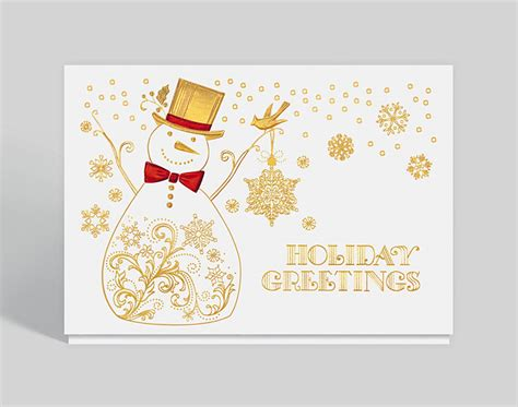 Snowman Holiday Greetings Card, 300338 Premium Black Business Cards Custom Logo Best In Nyc Blank Colored Zazzle On Amazon To Buy Printing