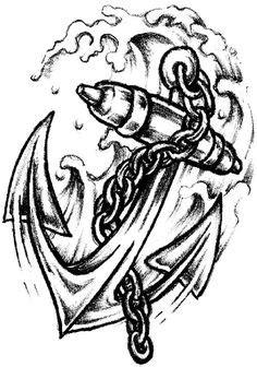 Anchor drawing | Anchor tattoo design, Anchor drawings, Anchor tattoo