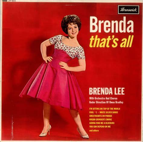 brenda lee first song brenda lee songs we were singing