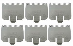 6 Wahl Professional Color Coded Clipper Guide Comb