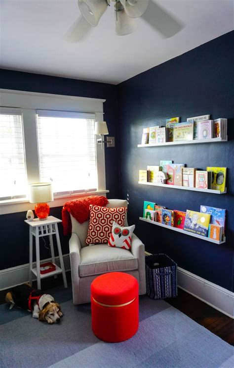 bookish  buggy nursery  baby boy book corners