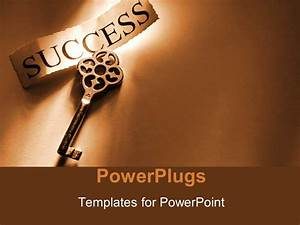 PowerPoint Template: a key to success with brownish ...
