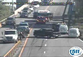 Traffic Alert Offcape Lanes Reopened On Sagamore Bridge
