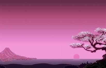 4k Japan Minimal Simple Background Fuji Tree