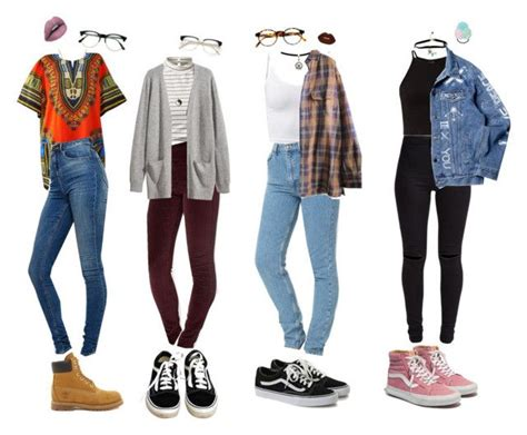 Indie School Outfits by stellaluna899 on Polyvore featuring Hu0026M Timberland American Apparel ...