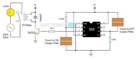 Circuit Schematic Touch Off Switch Using