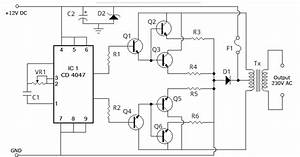100 Watt Inverter Schematic Diagram  U2013 12 Volt To 220 Volt