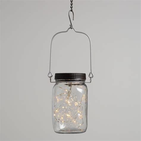 jar lanterns firefly solar led mason jar lantern world market