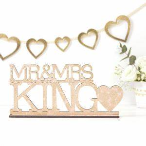 Wedding decorative letters notonthehighstreetcom for Personalised mr and mrs letters