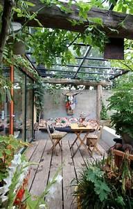 17 meilleures idees a propos de pergolas sur pinterest for Idee deco terrasse jardin