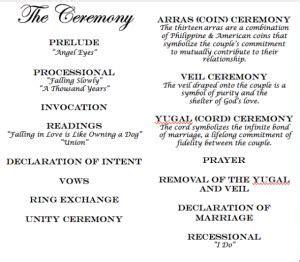 ceremony incorporating filipino traditions filipino