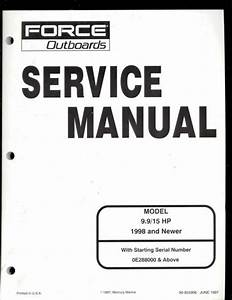 Force Outboards Motor 9 9    15 Hp Service Manual