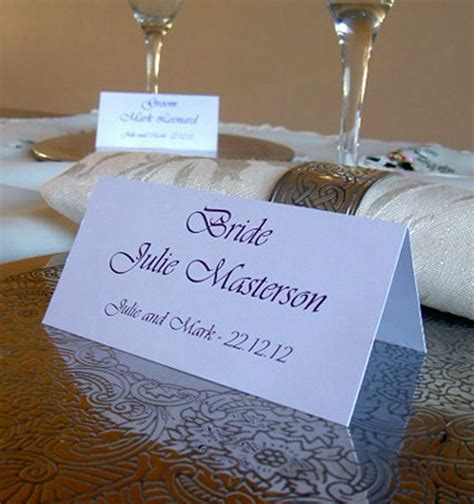 personalised table  place cards wedding birthday