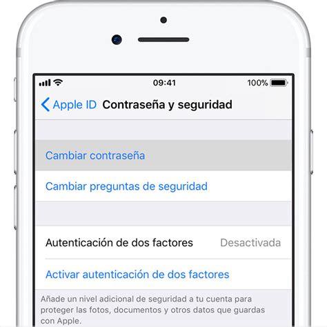 how to change apple id on iphone 5 cambiar la contrase 241 a de tu apple id soporte t 233 cnico de