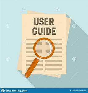 User Guide Papers Icon  Flat Style Stock Vector