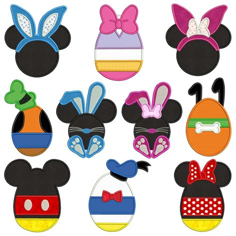disney easter machine applique patterns 10 designs 4 sizes design cards cds embroidery
