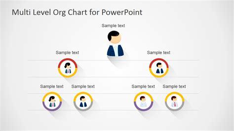 multi level org chart  powerpoint slidemodel