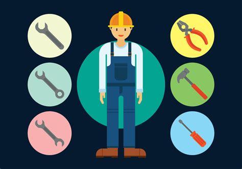 repair man engineer   vectors clipart