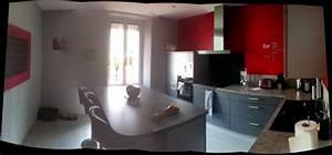 decorer les murs de ma cuisine grise et rouge With decorer ma cuisine