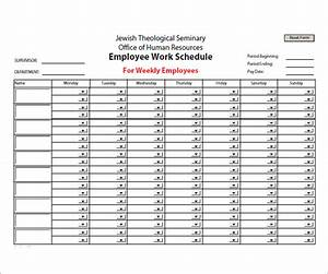 employee schedule template 5 download free documents in With sample of work schedule template