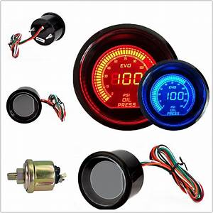 2 U0026quot  52mm Oil Press Pressure Car Digital Led Meter Gauge