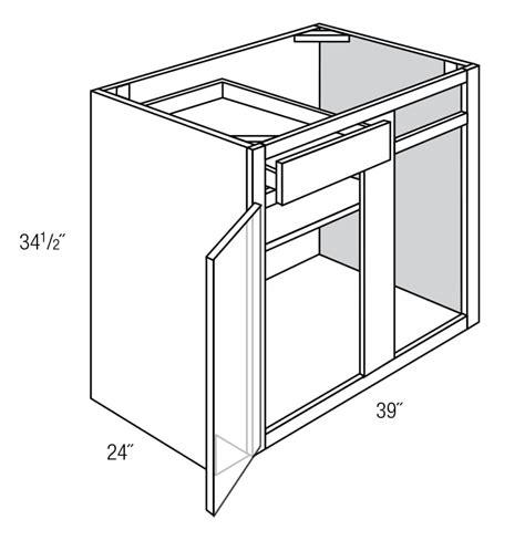 blind corner kitchen cabinet dimensions bbc42 45 blind base corner cabinet essex rta kitchen cabinet