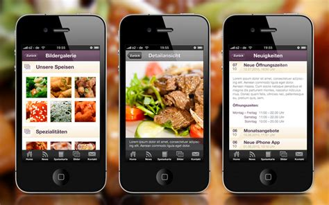 application android cuisine restaurant website design market your restaurant
