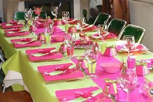 Deco Table Bapteme Fille : deco table bapteme fille stickoo ~ Preciouscoupons.com Idées de Décoration