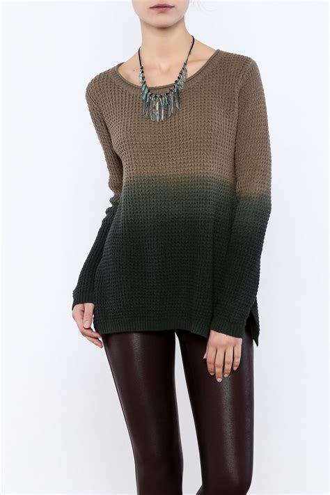 ombre sweater mystree olive ombre sweater from colorado by opal boutique