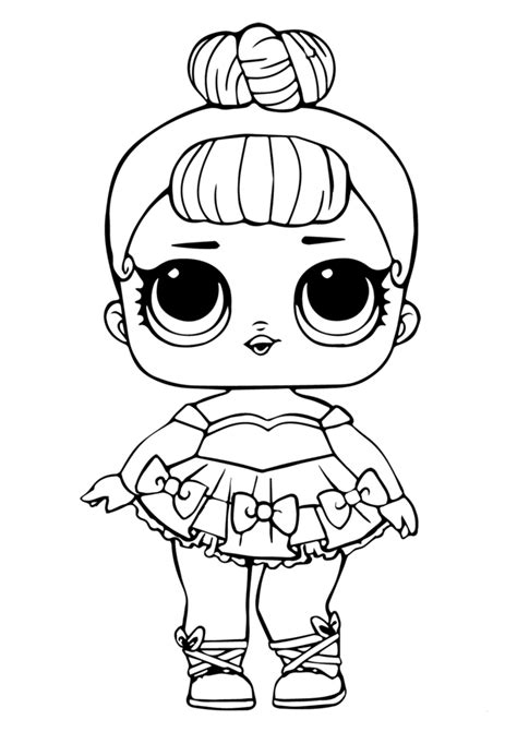 Coloring Lol Dolls by Lol Doll Coloring Page Miss Baby Glitter Lol Dolls