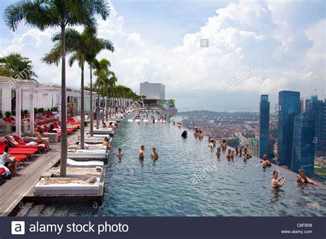 Pool Auf Dem Dach by Singapore Asia Marina Bay Hotel Hotel Pool Look