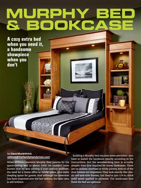 murphy bed bookcase family handyman magazine murphy