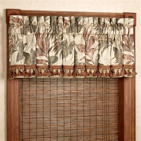Tropical Window Curtains by Bali Palm Tropical Window Treatments By Croscill