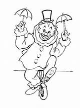 Coloring Clown Unicycle Riding Pages Circus Clowns Colouring Carnival Colorluna Embroidery Google Sheets Carousel sketch template
