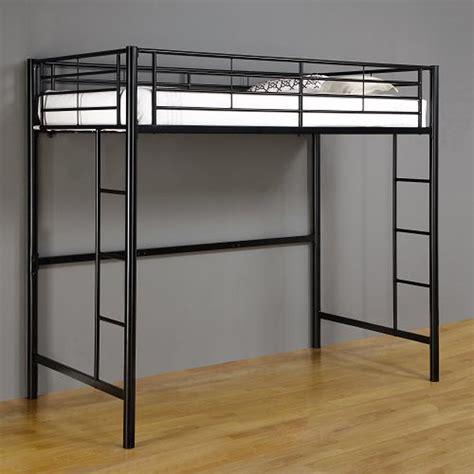 Sturdy Bed Risers by Walker Edison Steel Twin Size Loft Bed Black Btolbl