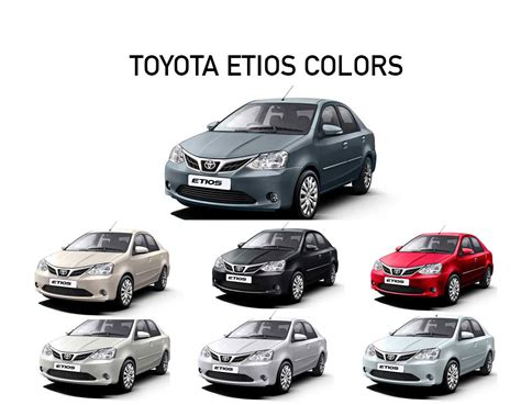Toyota Colors by Toyota Etios Colors White Grey Silver Black