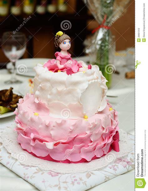 birthday cake decorated  fondant stock photo image
